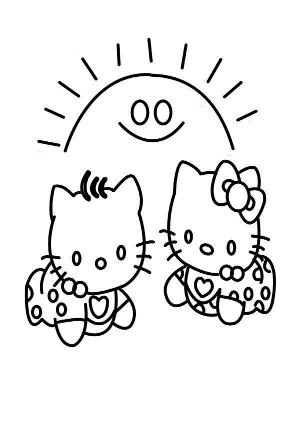 Free Printable Baby Hello kitty Coloring Pages for Kids - Picture 9 - fresh hello kitty christmas coloring pages to print