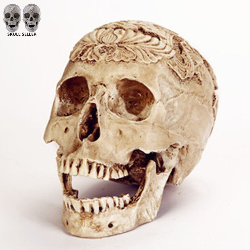 P-Flame Egypt Skull Model Resin Handicraft Humen Skulls For - skull halloween decorations
