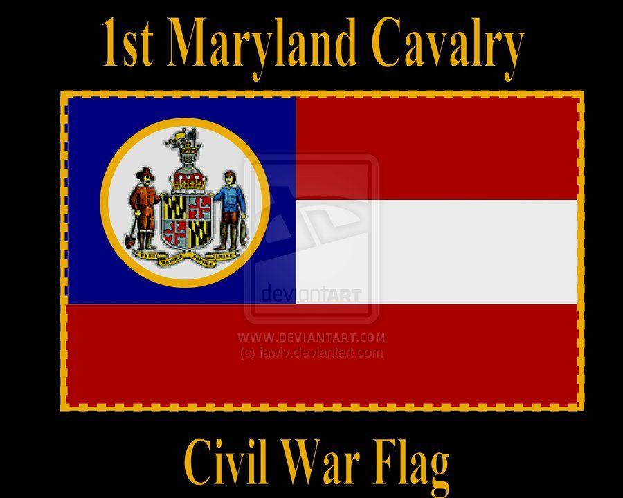 1st Maryland Cavalry Civil War By Fawiv On Deviantart Civil War Civil War Flags War
