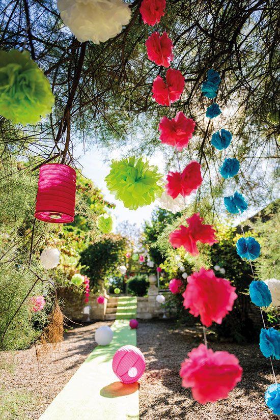Comment décorer mon jardin pour une fête ?   Décoration fête en ...