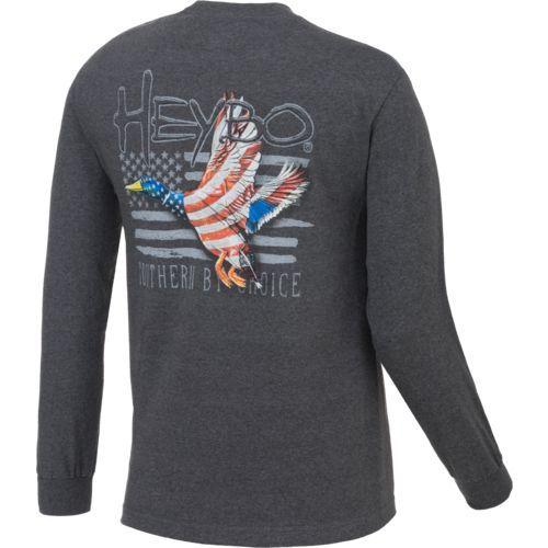 d40fafa3 Heybo Men's Patriot Duck Long Sleeve T-shirt (Grey, Size Medium) - Men's  Outdoor Apparel, Men's Outdoor Graphic Tees at Academy Sports