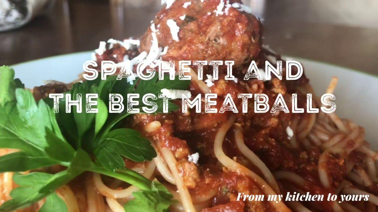 Spaghetti With Meatballs معكرونة بكرات اللحم Youtube Spaghetti And Meatballs Meatballs Food