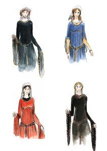 Dame 1180. Hochgotik | Die Gewand-Sammlung
