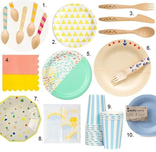 10 Pretty Disposable Tableware Picks For Your Outdoor Party Product Roundup | The Kitchn  sc 1 st  Pinterest & 10 Pretty Disposable Tableware Picks For Your Outdoor Party ...