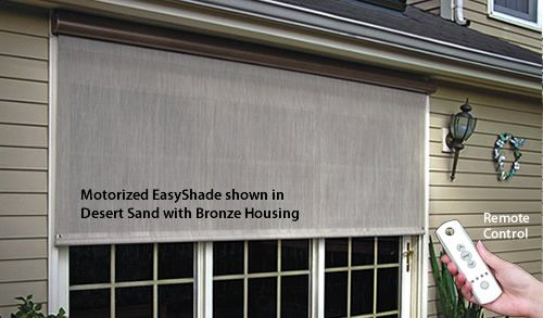 SunSetter Plug-in Motorized EasyShade with Remote Control Outside