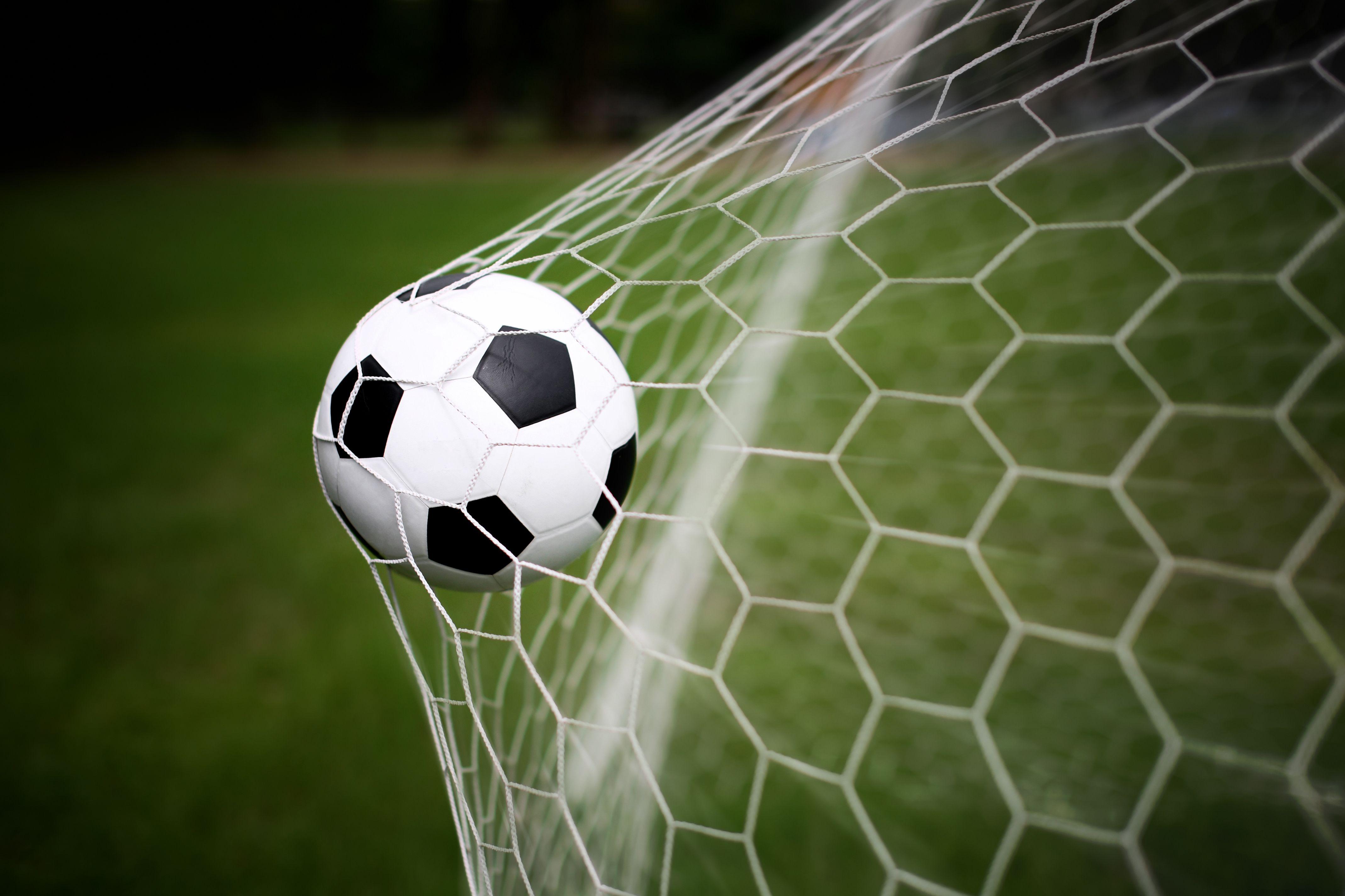 Soccer Ball In Goal Net Art Print Home Decor Wall Art Poster C