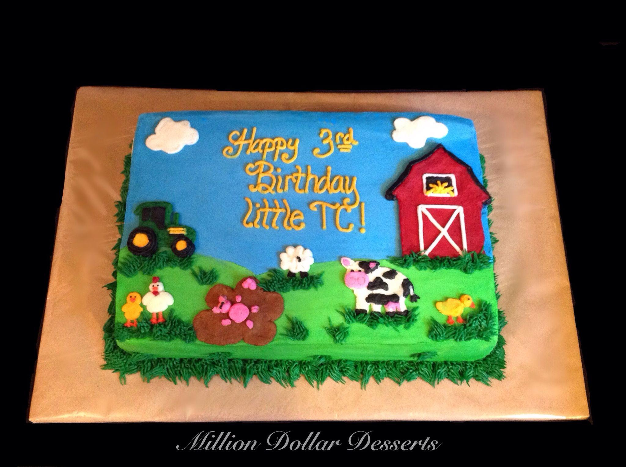 Farm Sheet Cake Buttercream Million Dollar Desserts