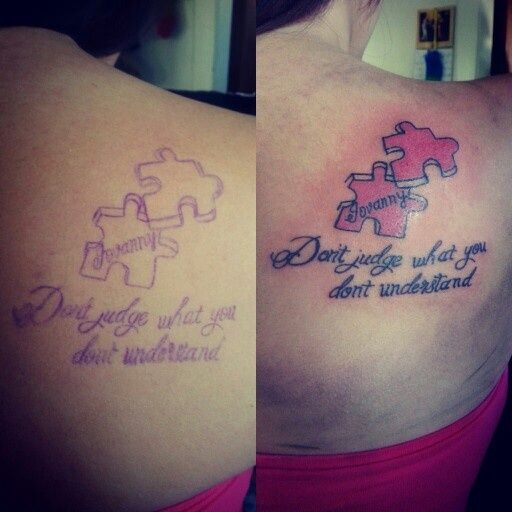 Autism Quotes For Tattoos Quotesgram: Puzzle Piece Tattoos For Sisters