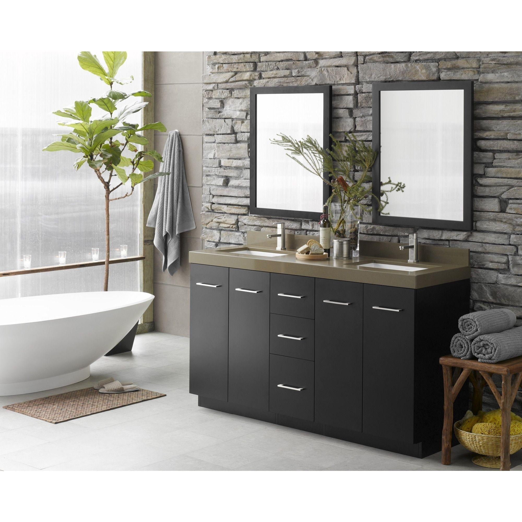 Ronbow Arden 60 Inch Eco Friendly Bathroom Double Vanity Set In