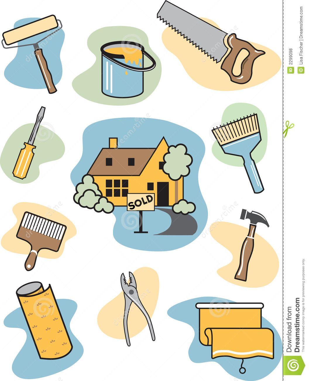 Home Improvement Clip Art Icon - info on financing home ...