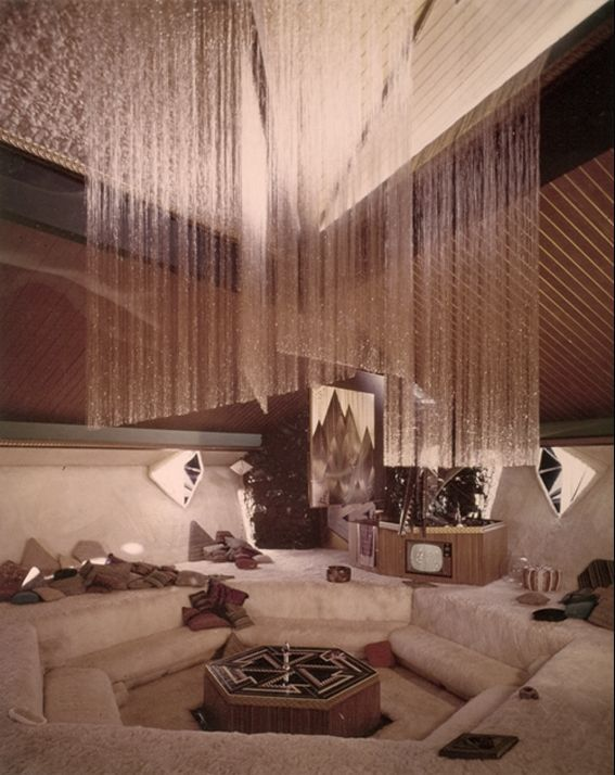 Cool Sunken Living Room Ideas For Your Dreamed House: Retro Home Decor, Retro Interior Design, Vintage Interior Design