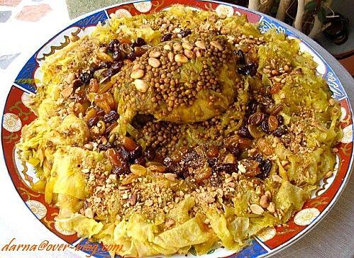 Rfissa aux raisins secs et amandes   Cuisine marocaine ...