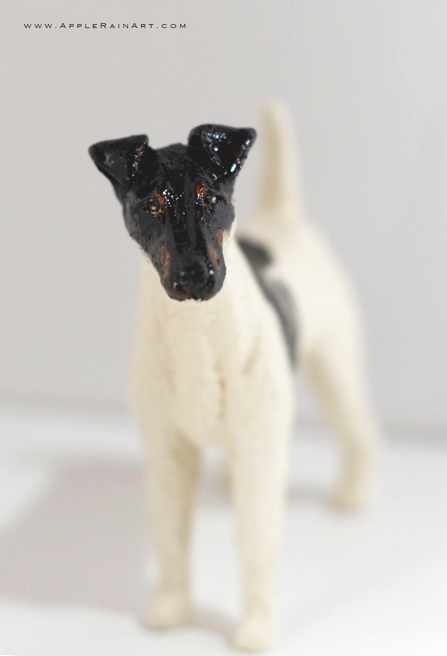 Fox Terrier Smooth Face Fox Terrier Smooth Ceramic Terrier Sculpture For Sale Fox Terrier Terrier Rain Art