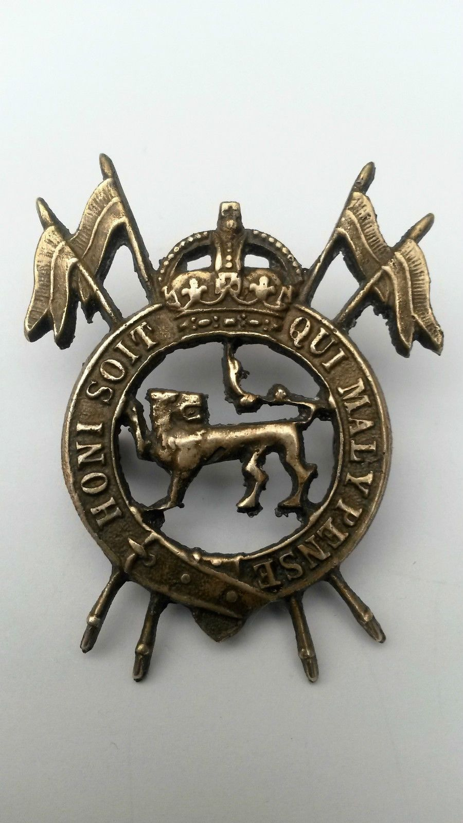 The 2nd Lancers (Gardner's Horse) Cap badge rare Badge