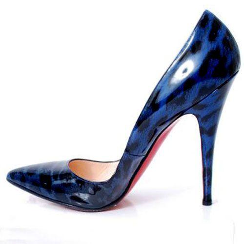 christian louboutin pigalle pumps blue leopard