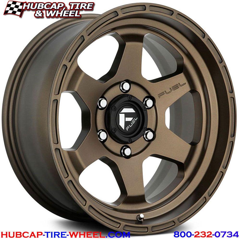 Fuel D666 Shok Wheels Rims Bronze Wheels Fuel Wheels Wheel Rims