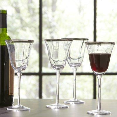 Three Posts Willesden 6 Oz Crystal Red Wine Glass White Wine