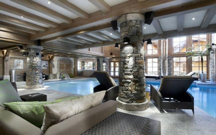 Souvent Beau chalet de luxe à Courchevel | Piscines intérieur, Espace  IZ83