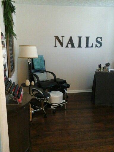 Home Spa Design Ideas: Home Nail Salon Decorating