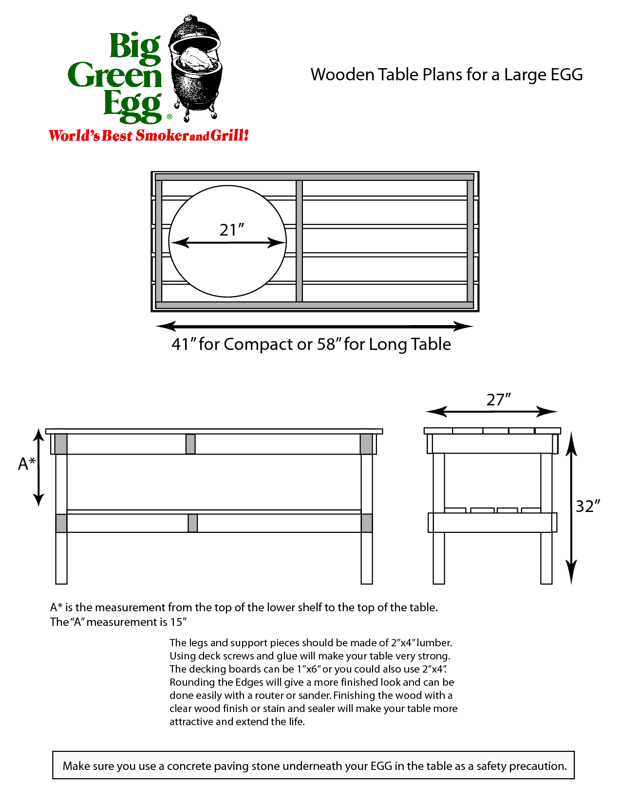 Bouwtekening Sidetable Large Big Green Egg Table Plans Google Search Egghead Stuff In