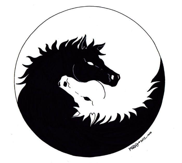 Yin Yang Equino Yin Yang Images Yin Yang Designs Yin Yang Art