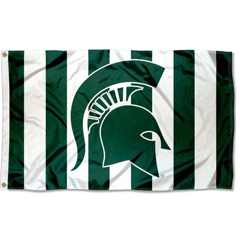 Michigan State Msu Spartans Flag Banner Etsy College Flags Michigan State Spartans Flags Banners