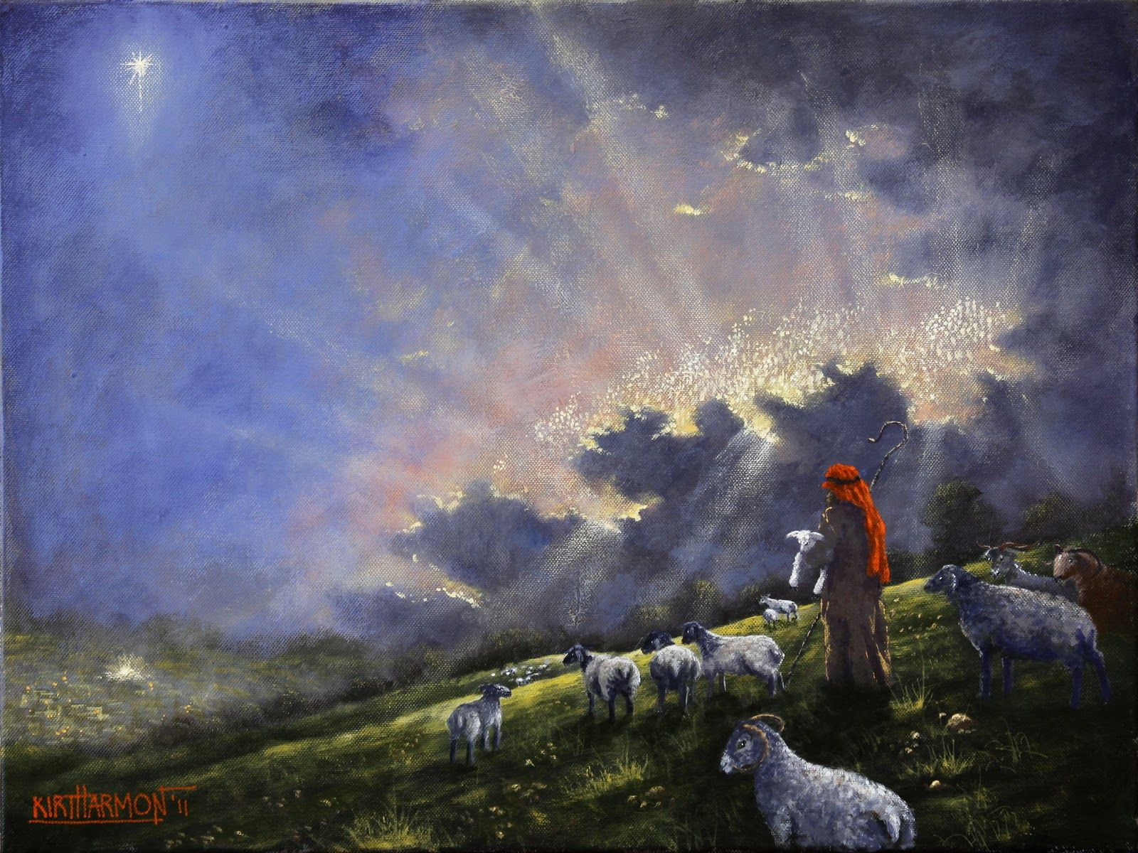 there were in the same country shepherds abiding in the ...