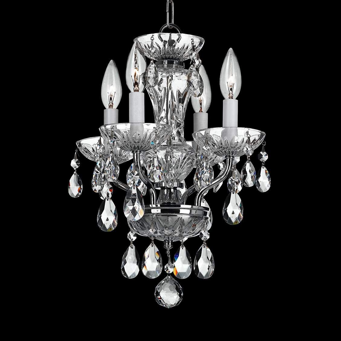 Crystorama traditional crystal 11w chrome mini chandelier mini crystorama traditional crystal 11w chrome mini chandelier arubaitofo Image collections