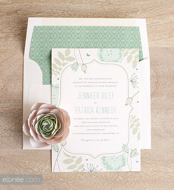 Add A Sweet Touch To Your Wedding Invitations By Making Diy Envelope Liners