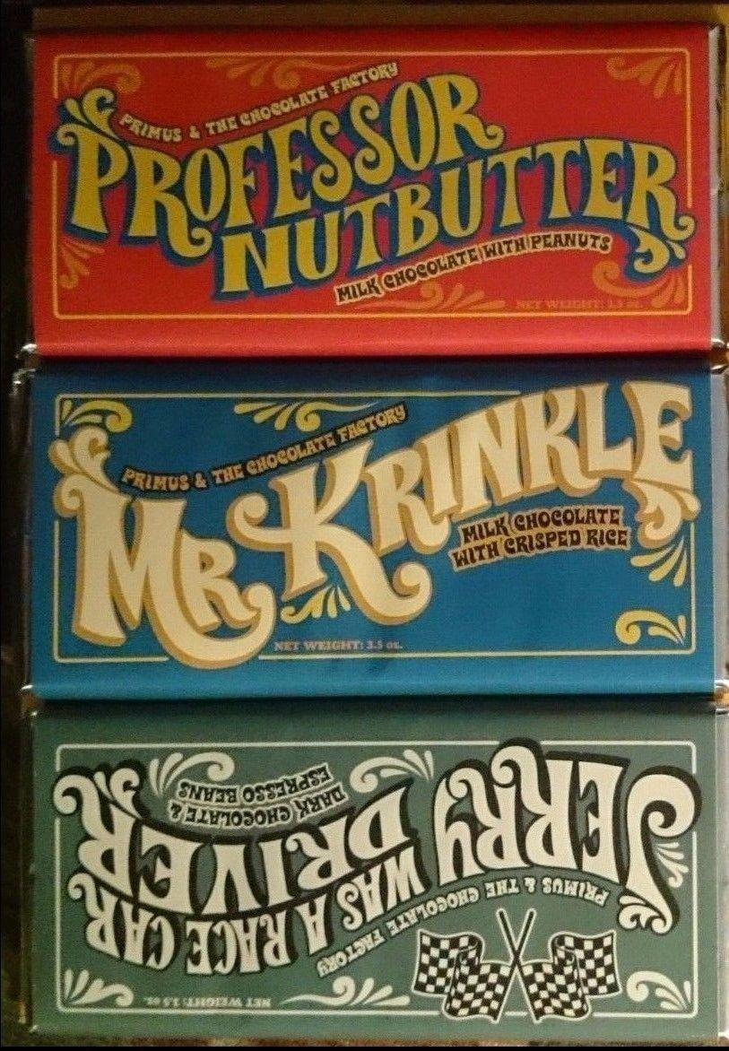 3 Primus & the Chocolate Factory Chocolate Bars Willyst Wonka ...