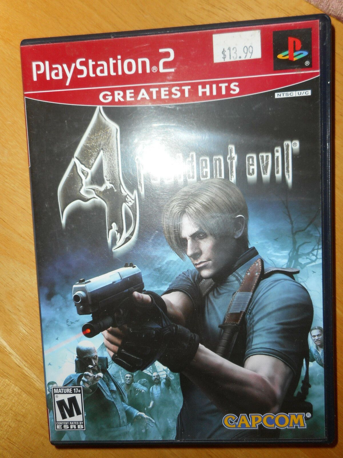 Resident Evil 4 Greatest Hits For Playstation 2 Game Disc Box