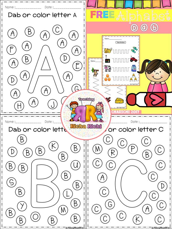 Free Alphabet Dab A Z In 2018 Teaching Pinterest
