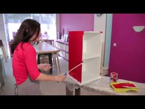 Peindre un meuble effet laque peinture et patine - Peindre meuble cuisine melamine ...