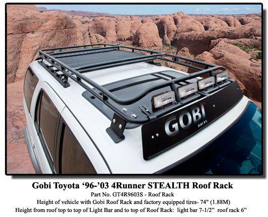 Gobi Toyota 96 02 4 Runner Roof Rack 4runner Toyota 4runner Toyota