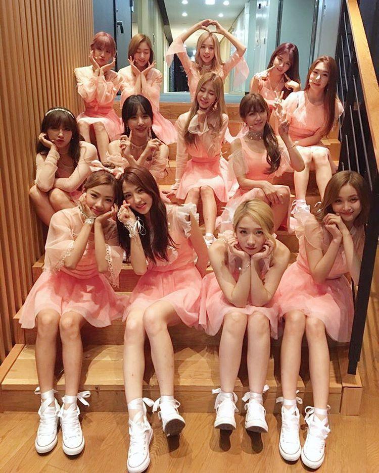 살구꽃 처럼 예쁜 열 세명의 소녀들😍💘 #오늘의우주복👭 #우주스타그램 #우주소녀 #비밀이야