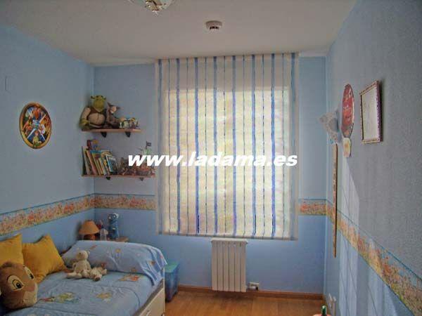 Habitaciones para bebés » habitación infantil con estor de listas ...