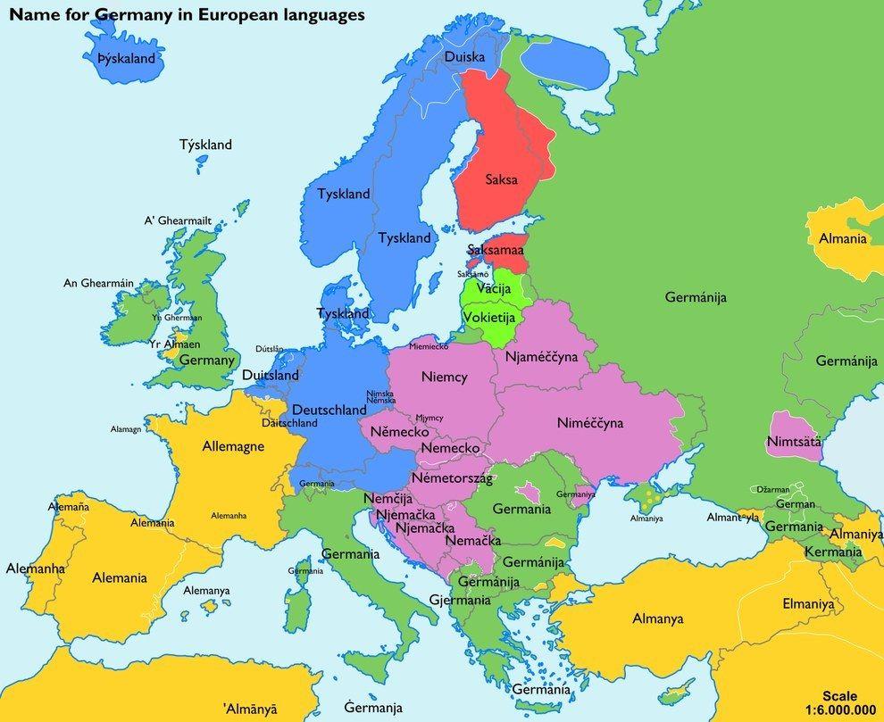 Und So Sagen Unsere Nachbarn Deutschland Europaische Sprachen