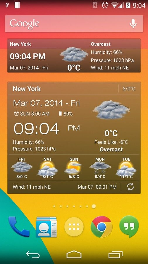 Weather & Clock Widget Full v1 0 1 apk Requirements: Android 2 2 and