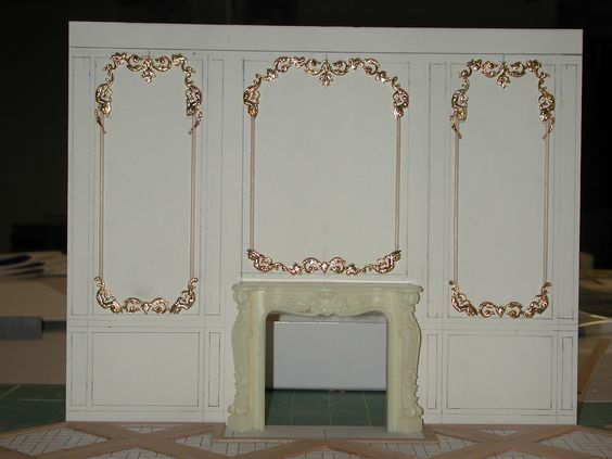 French Wall Panels Made From Jewelry Findings Miniatures