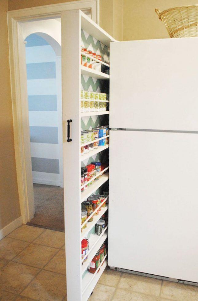 14 Hidden Storage Ideas for Small Spaces   Armario y Espacios