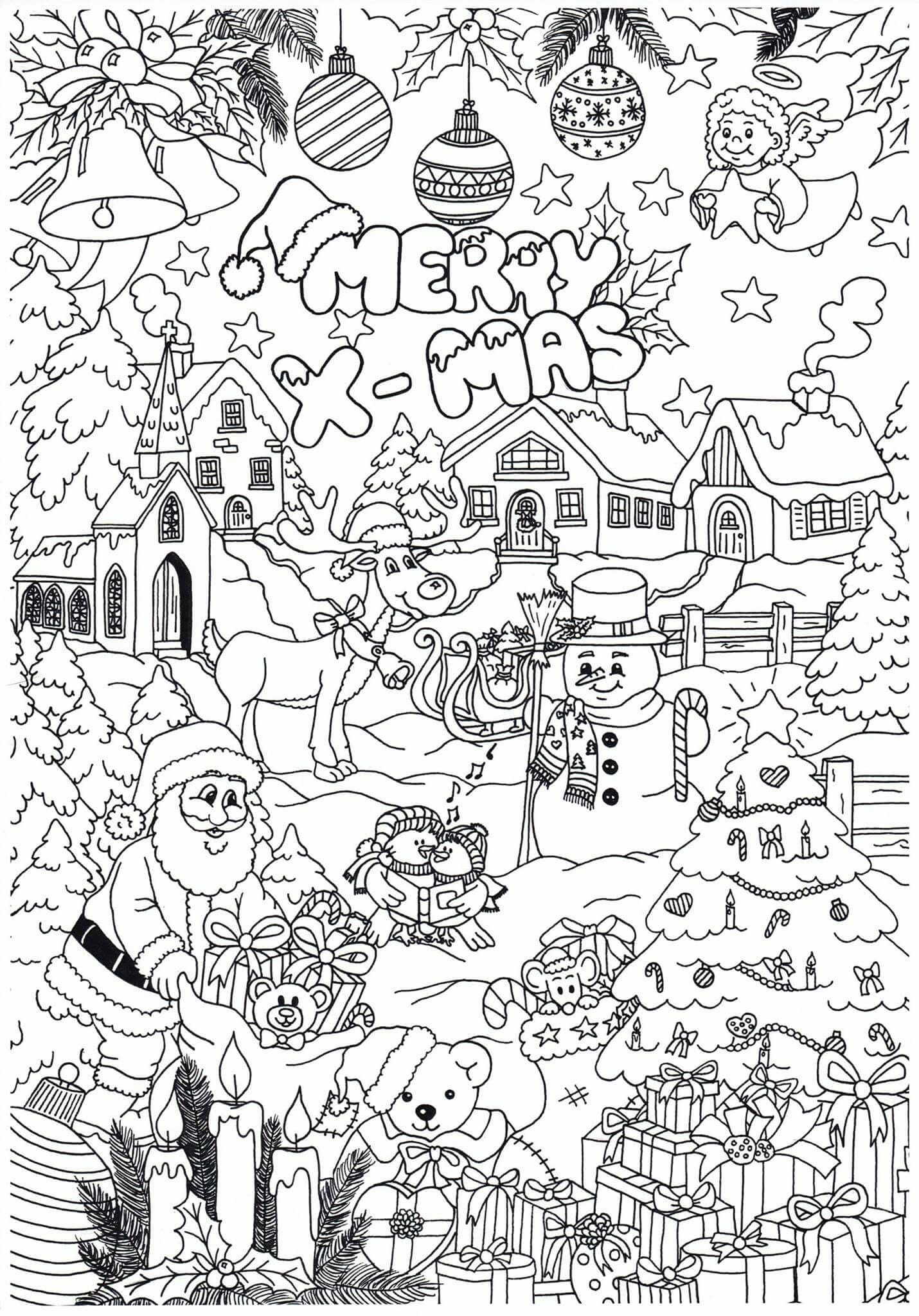 Pin By Annemieke Reniers On Kleurplaten Christmas Pictures To Color Angel Coloring Pages Christmas Colors