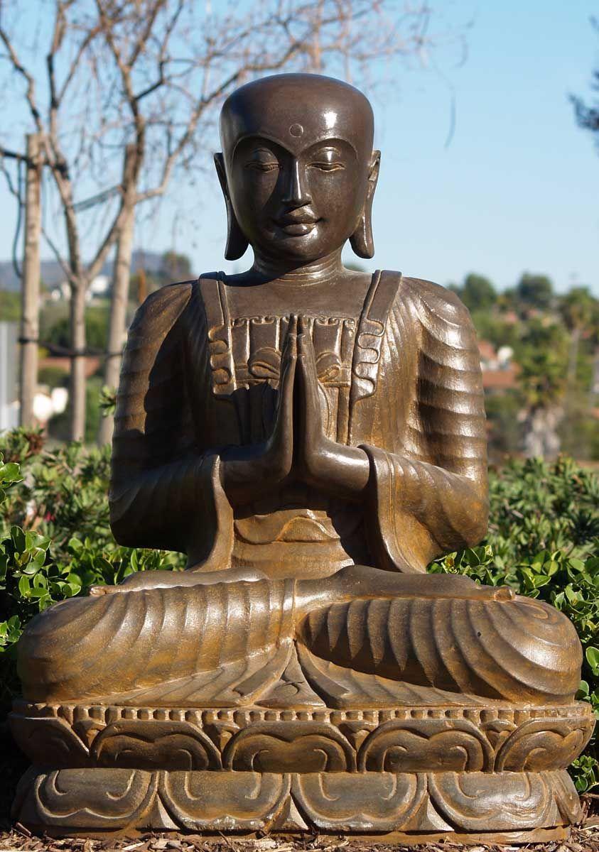 Sold Stone Namaste Garden Buddha Statue 36 Buddha Pinterest