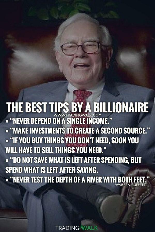 The Best Tips By A Billionaire Warren Buffett Quotes On How To Become Rich Wealthy Millionaire Or Motivation Belles Citations Citations Motivantes