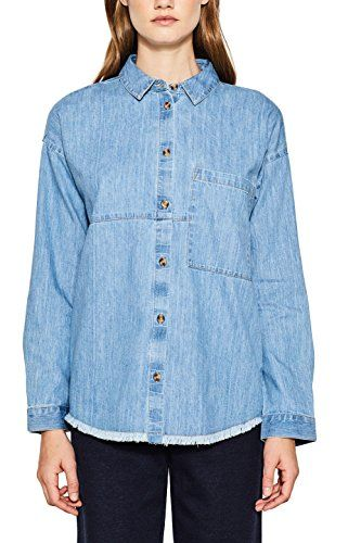 40cacb6b177ca4 ESPRIT Damen Bluse 107EE1F008 Blau (Blue 430) Small.  apparel  shirt ...