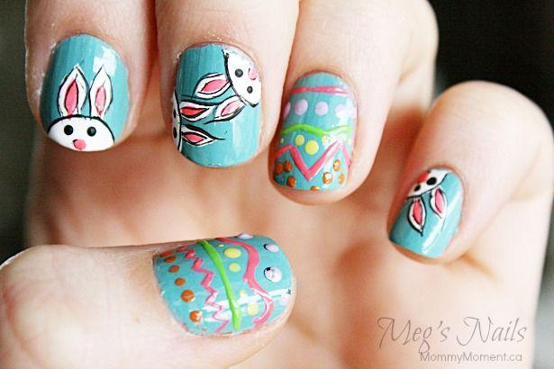 Easter Bunny Nail Art Bunny Nails Easter Bunny And Bunny
