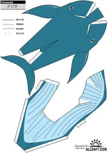 картинки акула схемы из бумаги ещё