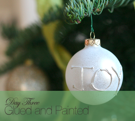 DIY ornament with a hot glue gun write out a name word or