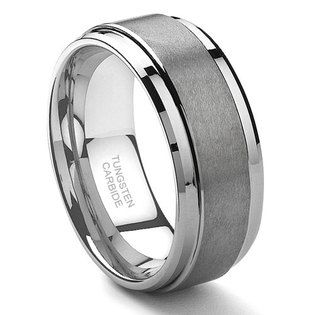 Titanium Kay Tungsten Carbide Matte Titanium Wedding Rings Titanium Wedding Band Mens Wedding Rings