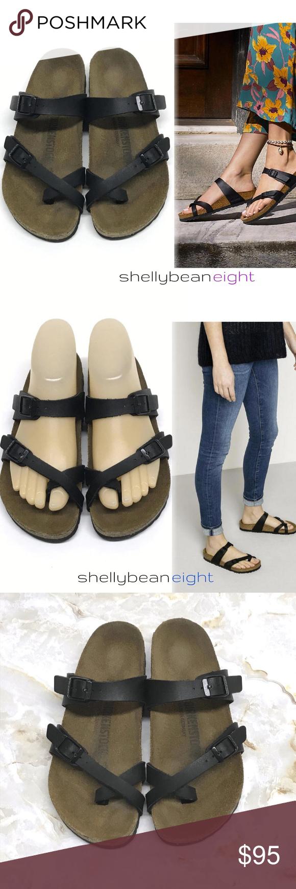 BIRKENSTOCK MAYARI Black Toe Loop Sandals 36 5 N