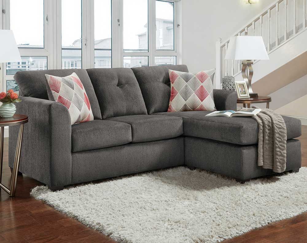 Kelly Gray 2 Pc Sectional Sofa Sectionals Living Rooms American Freight Sectional Sofas Living Room Couch And Loveseat Living Room Sectional